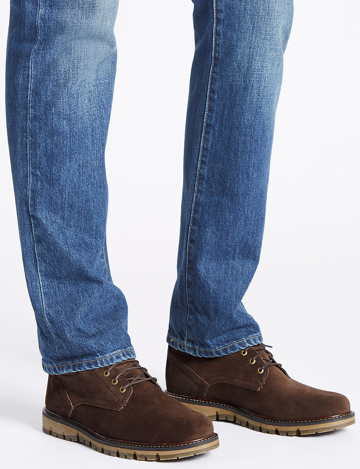 M&S Collection Suede Lace-up Boots