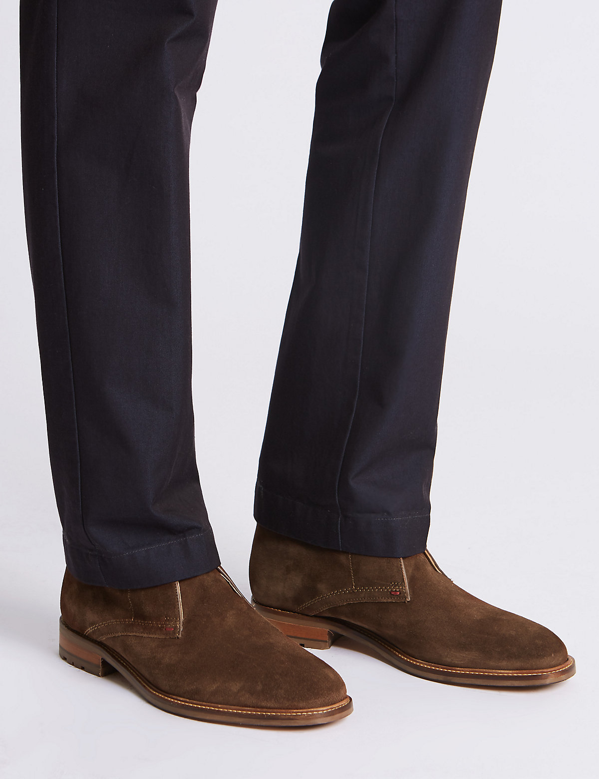 M&S Collection Big & Tall Suede Lace-up Chukka Boots