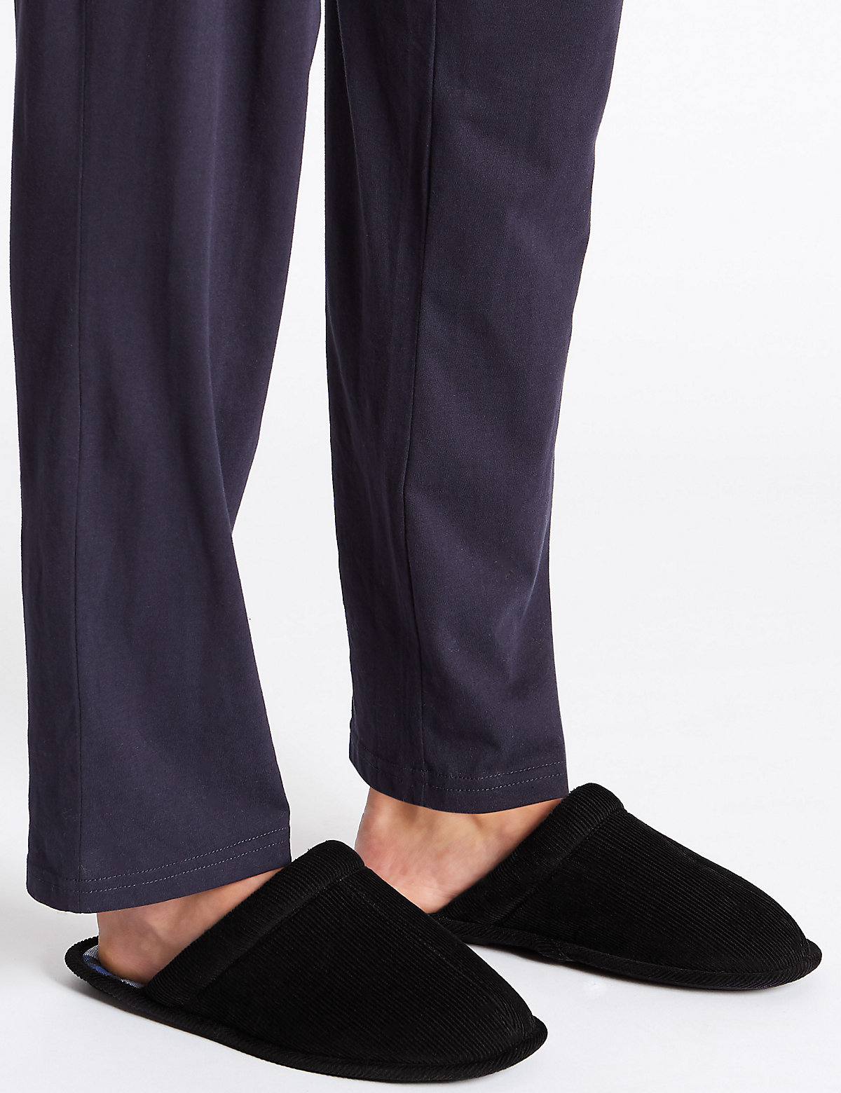 M&S Collection Corduroy Mule Slippers with Thinsulate
