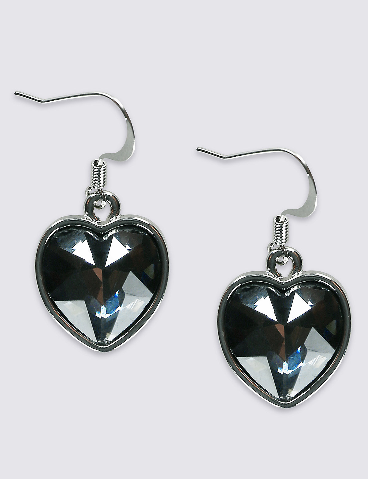 M&S Collection Glass Stone Heart Drop Earrings