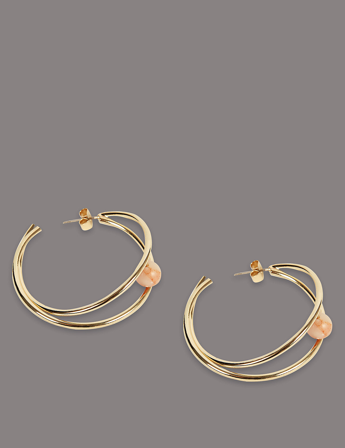 Autograph Deco Ball Hoop Earrings