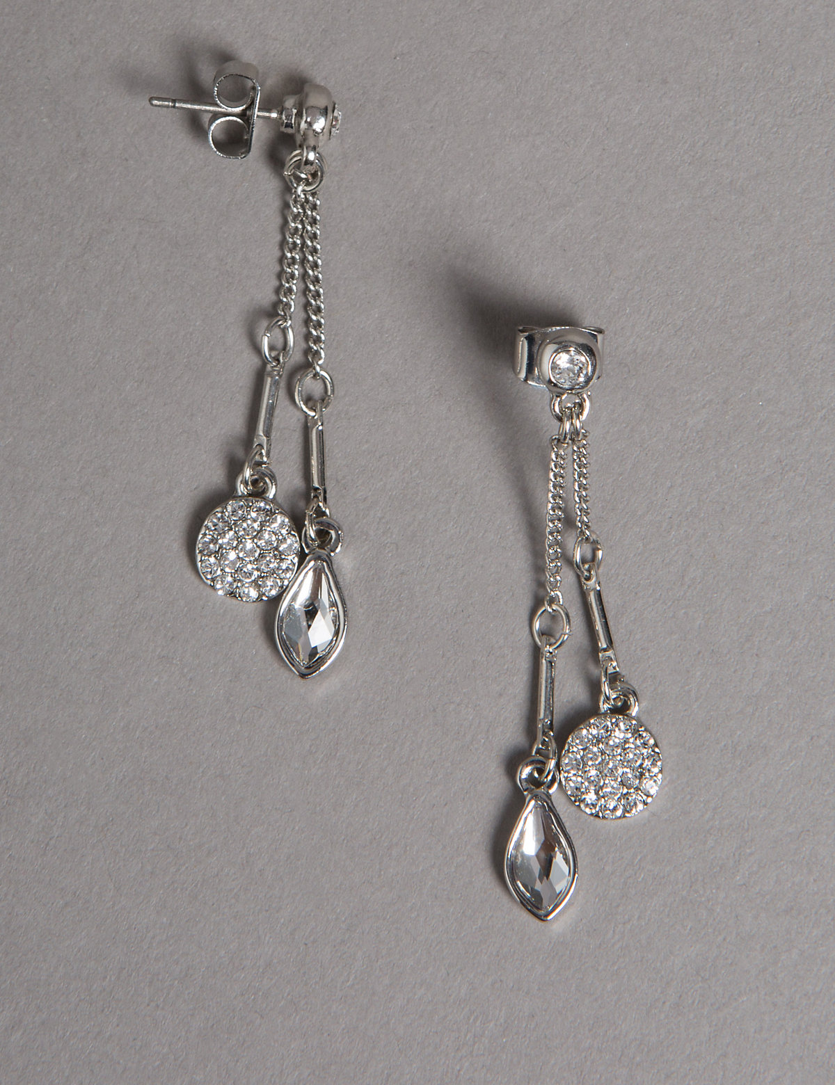 Autograph Double Drop Earrings MADE WITH SWAROVSKI ELEMENTS