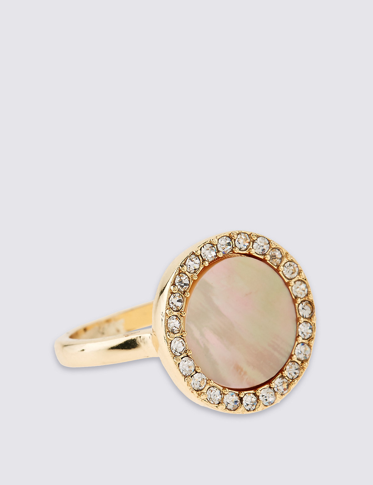 M&S Collection Gold Plated Diamanté Circle Ring