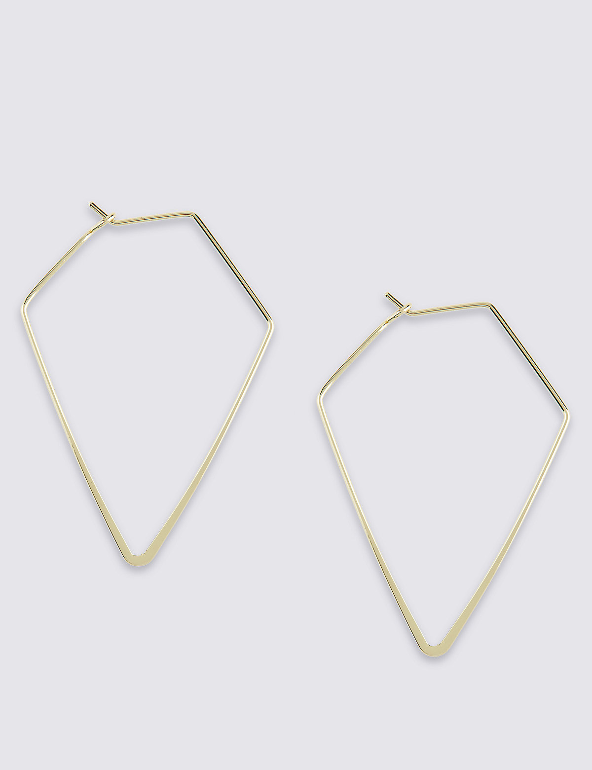 M&S Collection Diamond Shaped Hoop Earrings