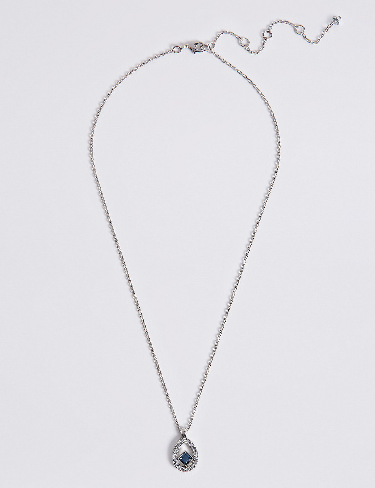 M&S Collection Floating Square Necklace MADE WITH SWAROVSKI ELEMENTS