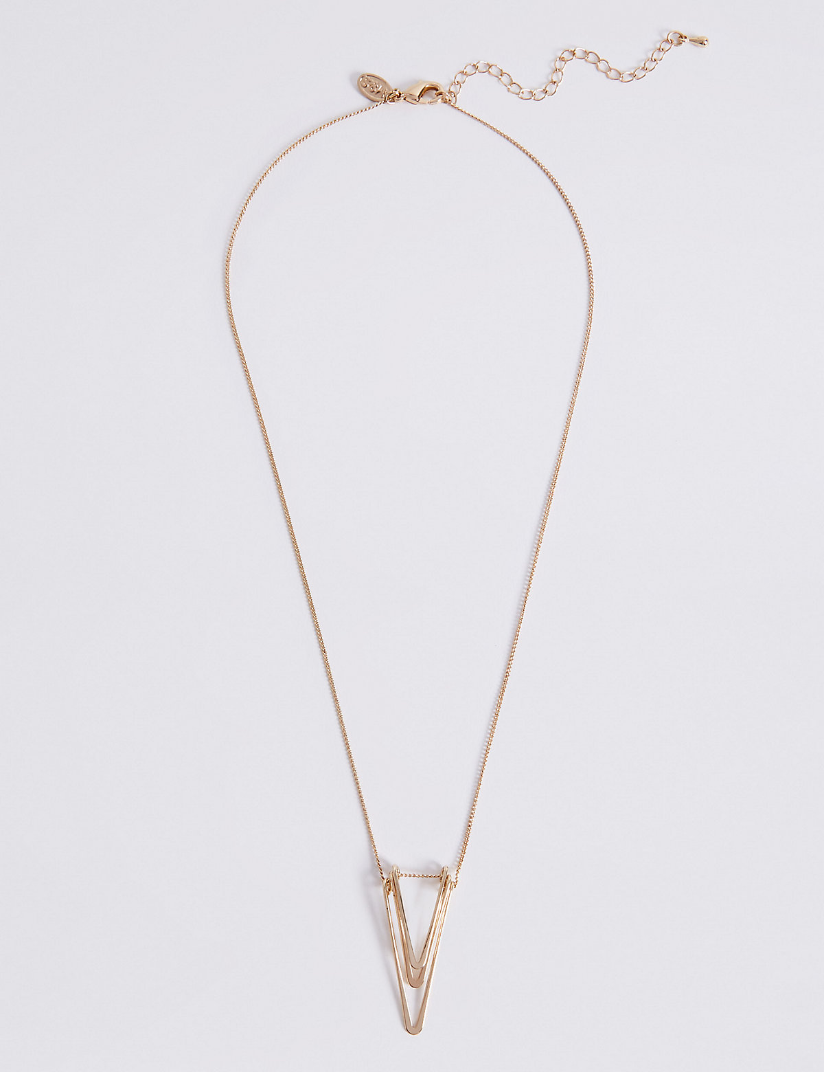 M&S Collection V Layered Pendant Necklace
