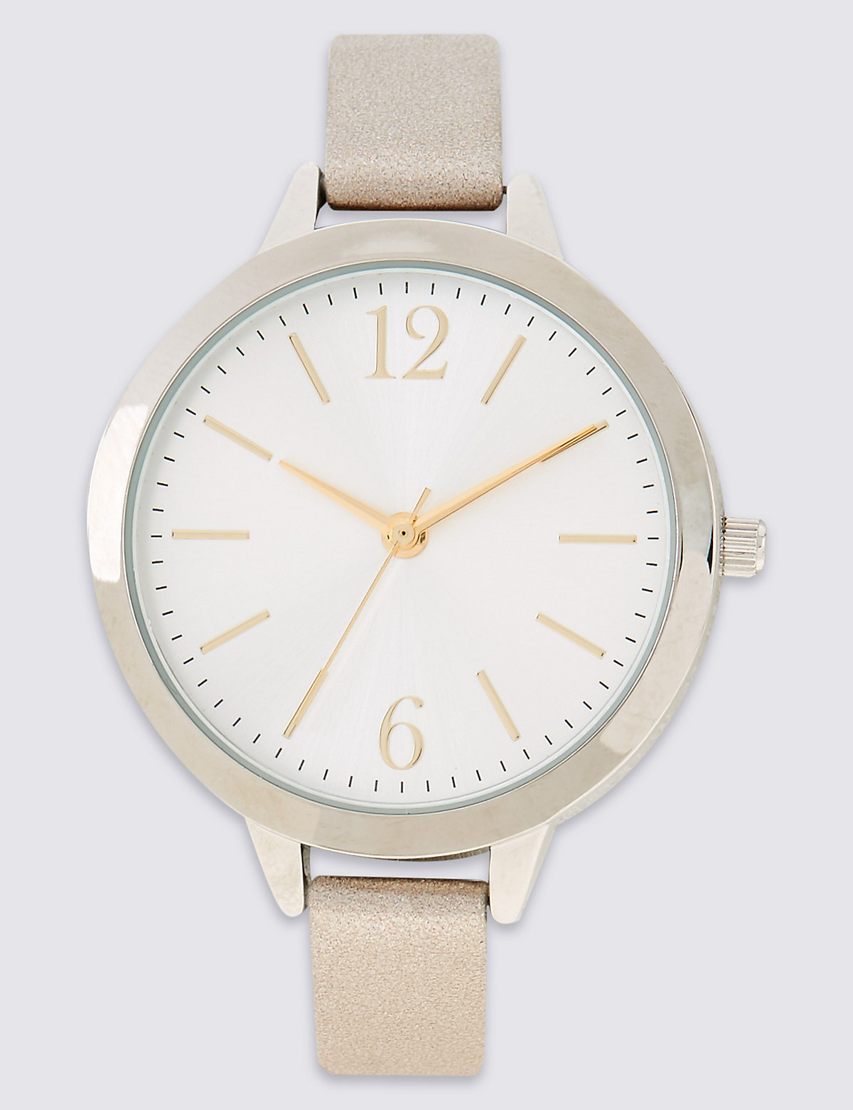 Image of M&S Collection Round Face Case Strap Watch