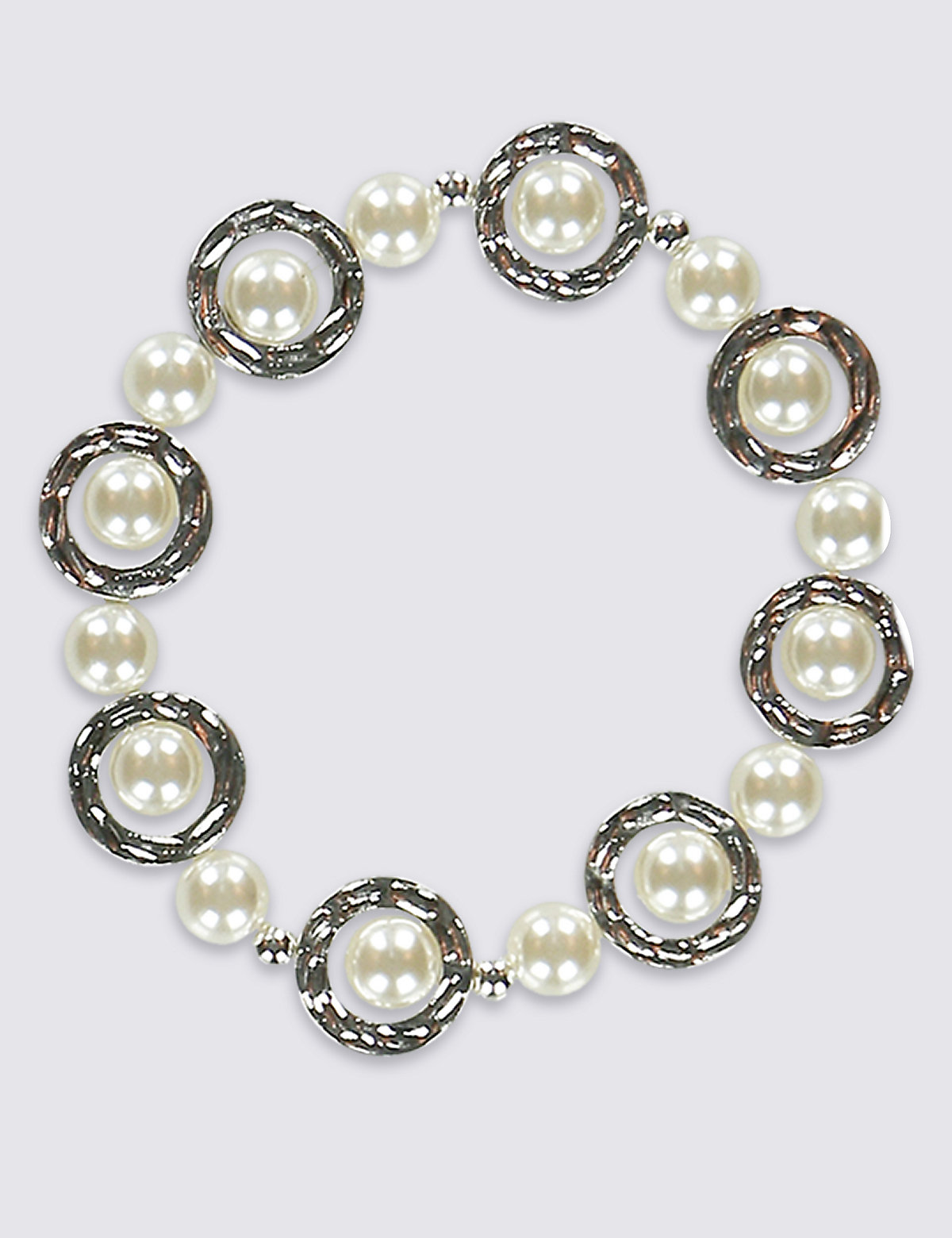 M&S Collection Pearl Circle Bracelet
