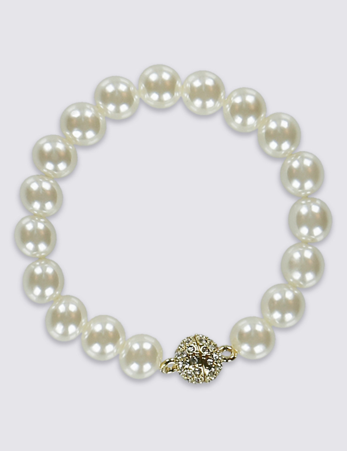 M&S Collection Pearl Effect Magnet Bracelet