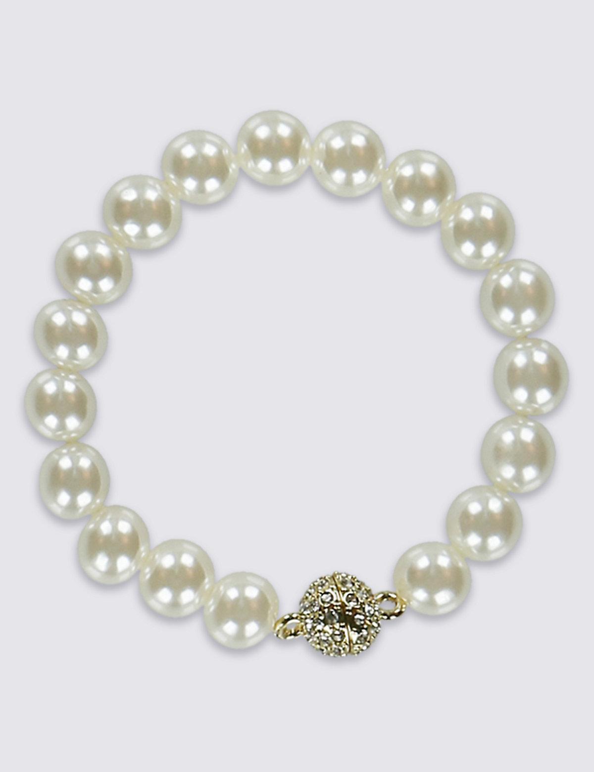 M&S Collection Pearl Effect Magnet Bracelet