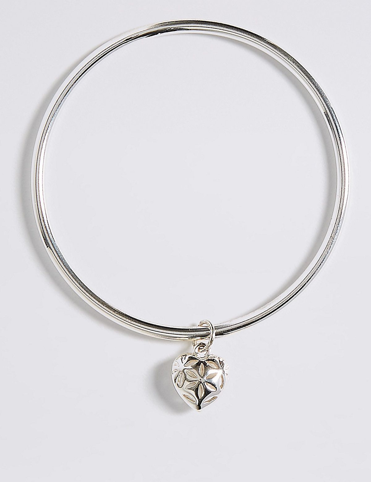 M&S Collection Silver Plated Heart Bangle