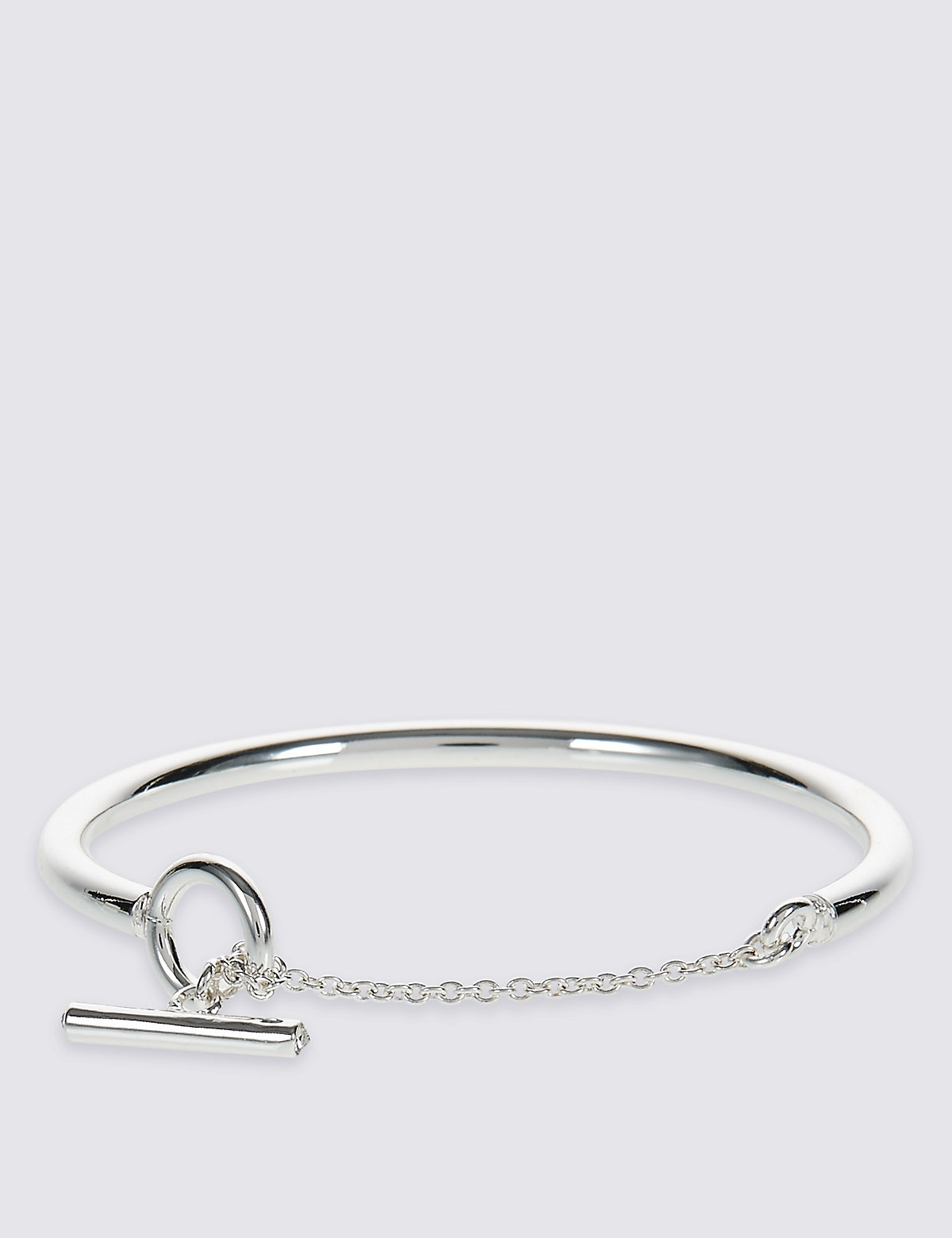 M&S Collection Silver Plated T-Bar Bracelet