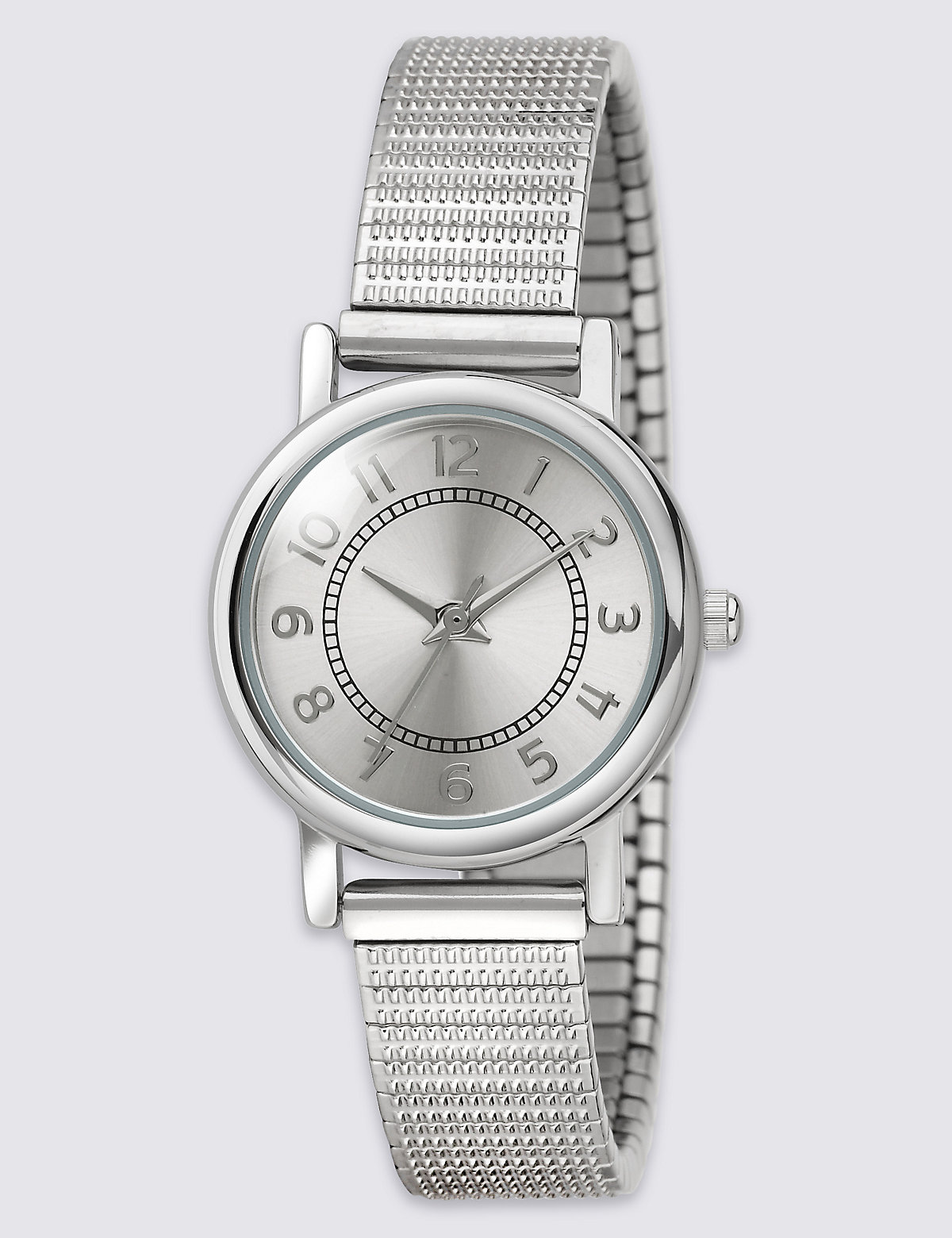Image of M&S Collection Round Face Etched Expander Watch
