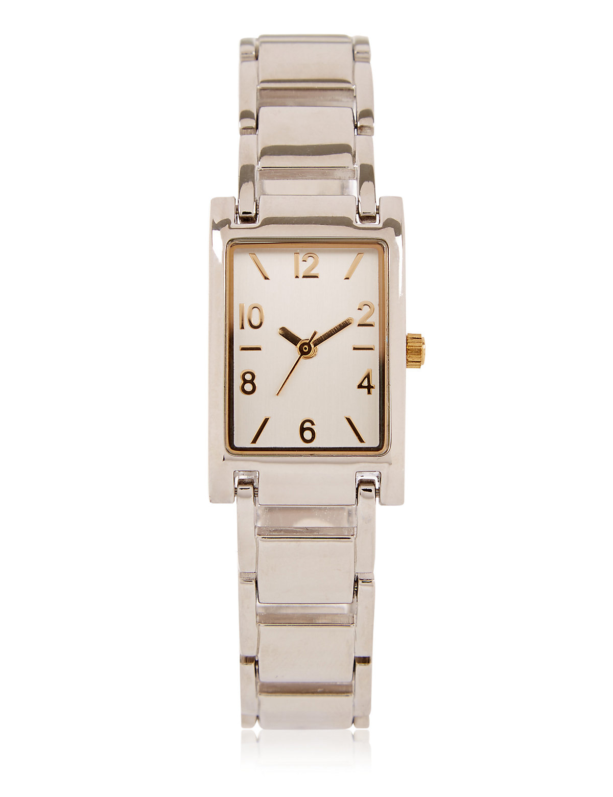 M&S Collection Rectangular Face Link Chain Watch
