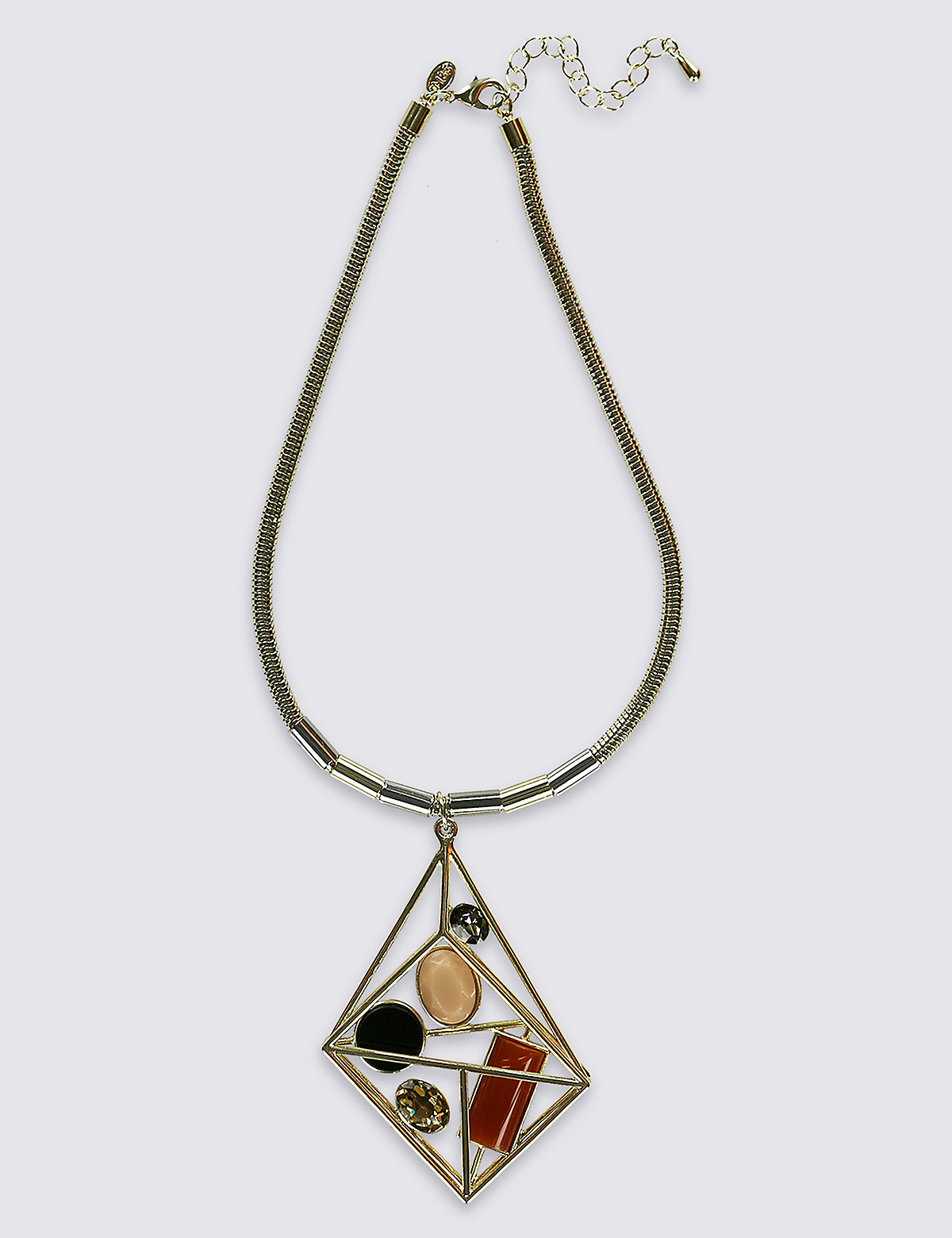 Limited Edition Trapped Graphic Pendant Necklace
