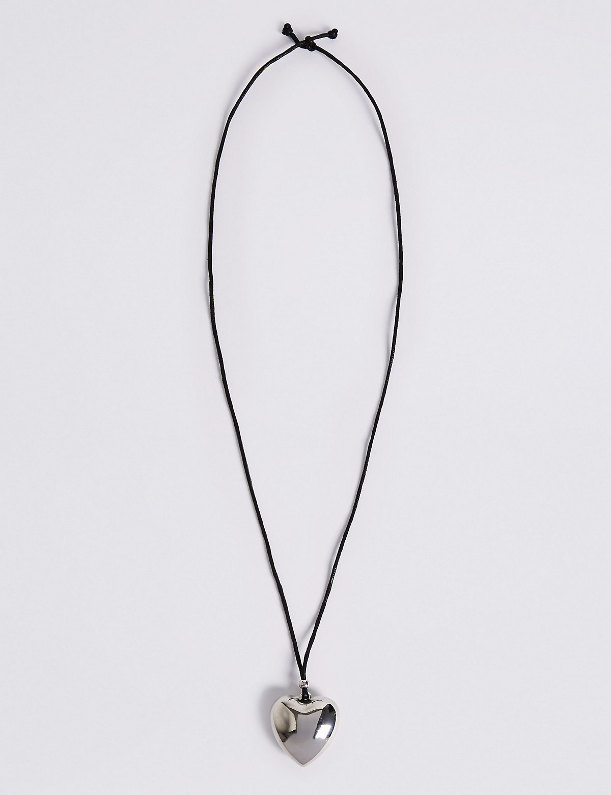 M&S Collection Simple Heart Pendant Rope Necklace