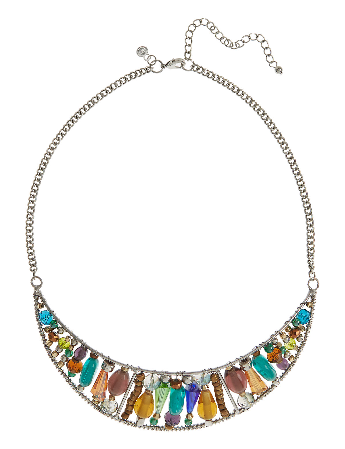 Torque Assorted Bead Necklace Multi Coloured One Size