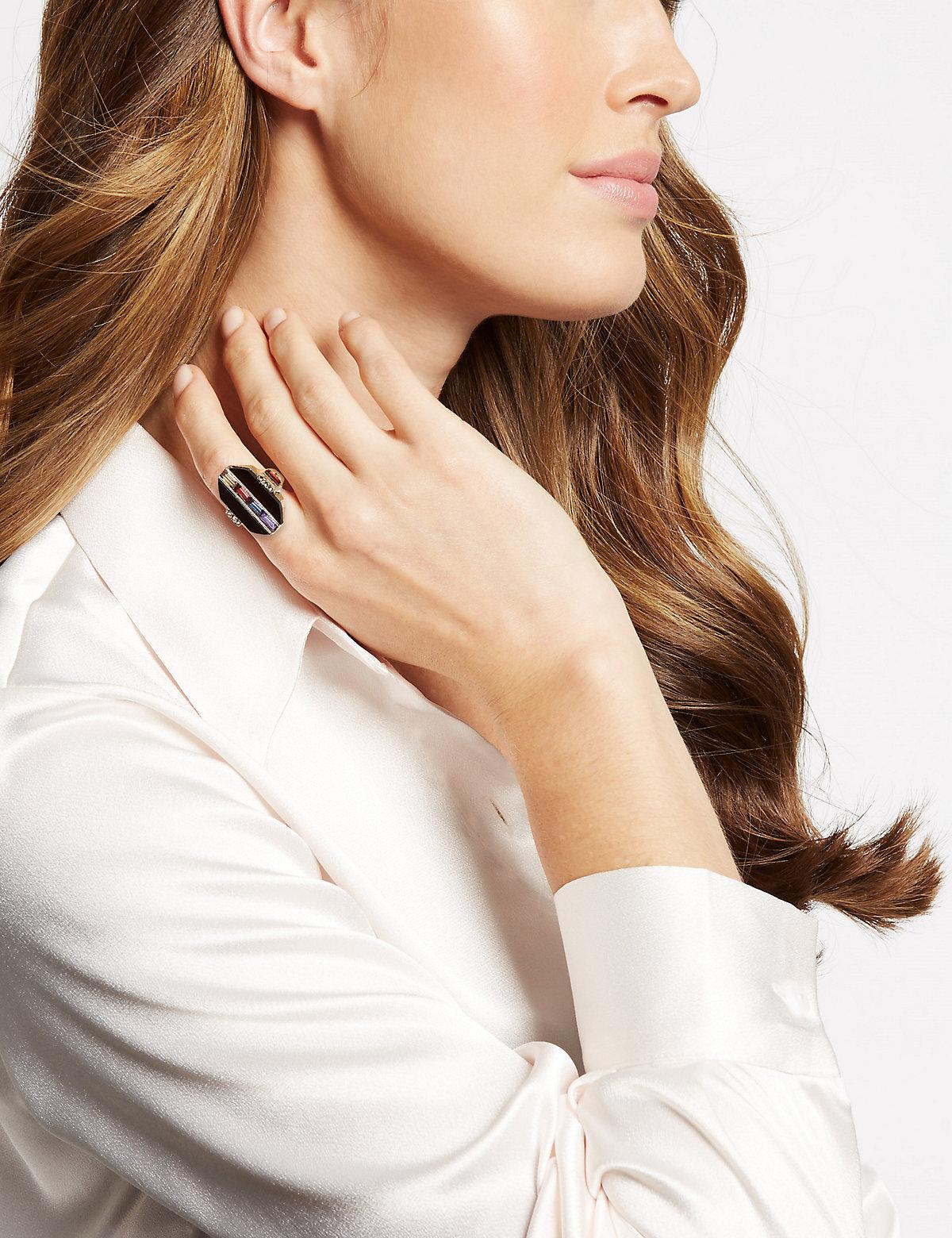 M&S Collection Baguette Gem Ring