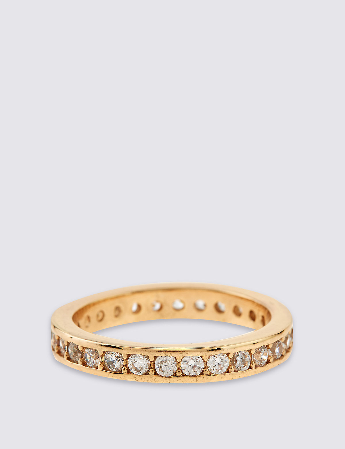 M&S Collection Gold Plated Shimmer Band Ring