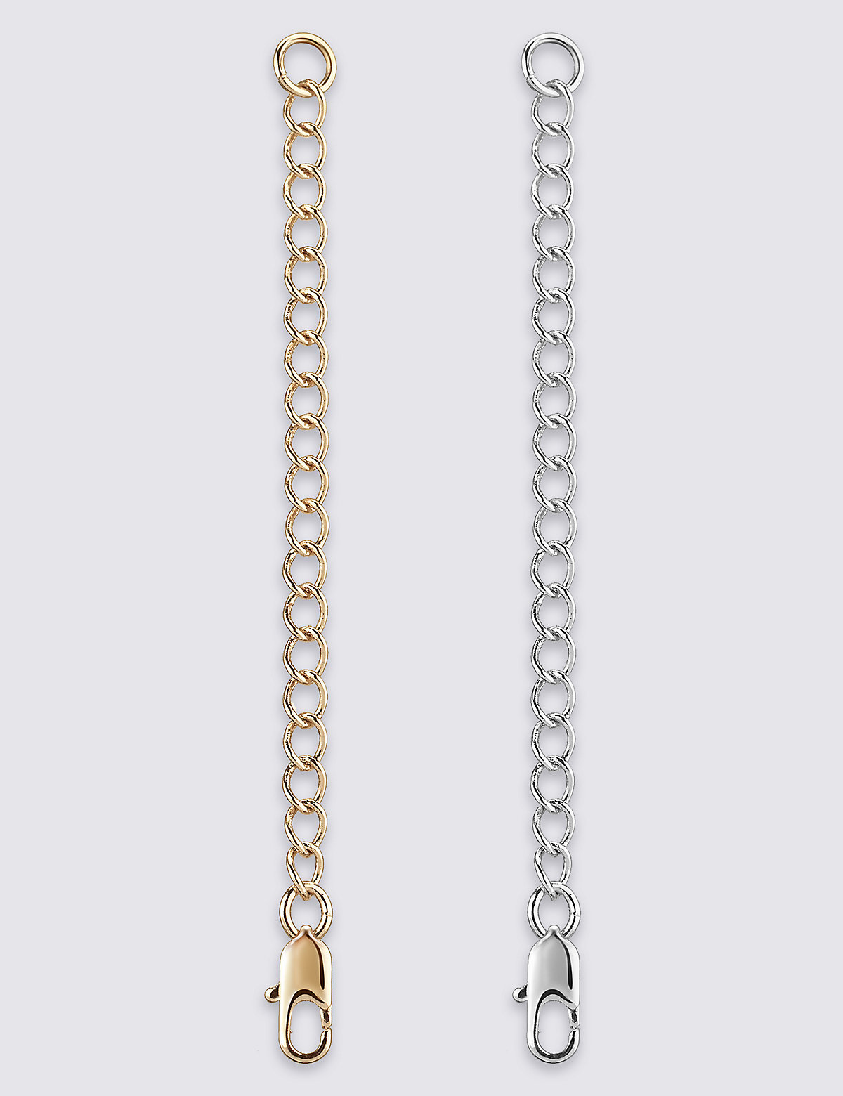 M&S Collection 2 Gold & Silver Plated Necklace Extenders