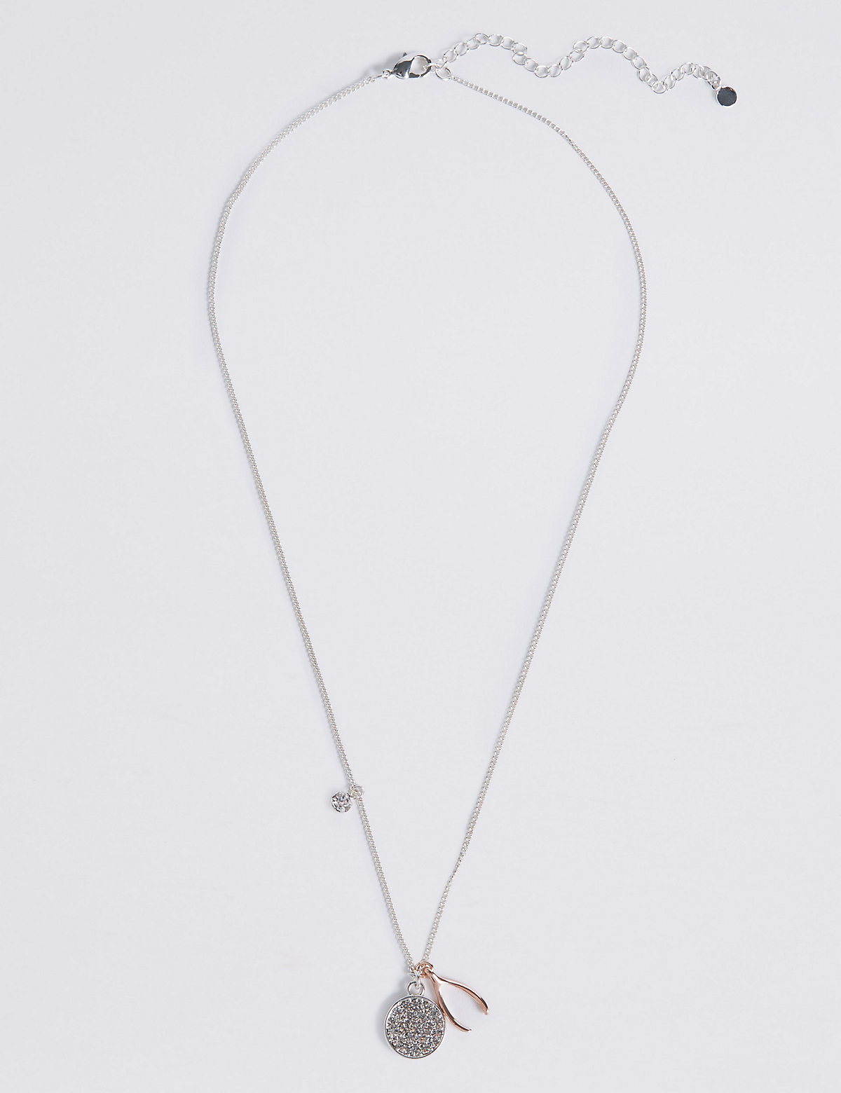 M&S Collection Charm Wishbone Necklace