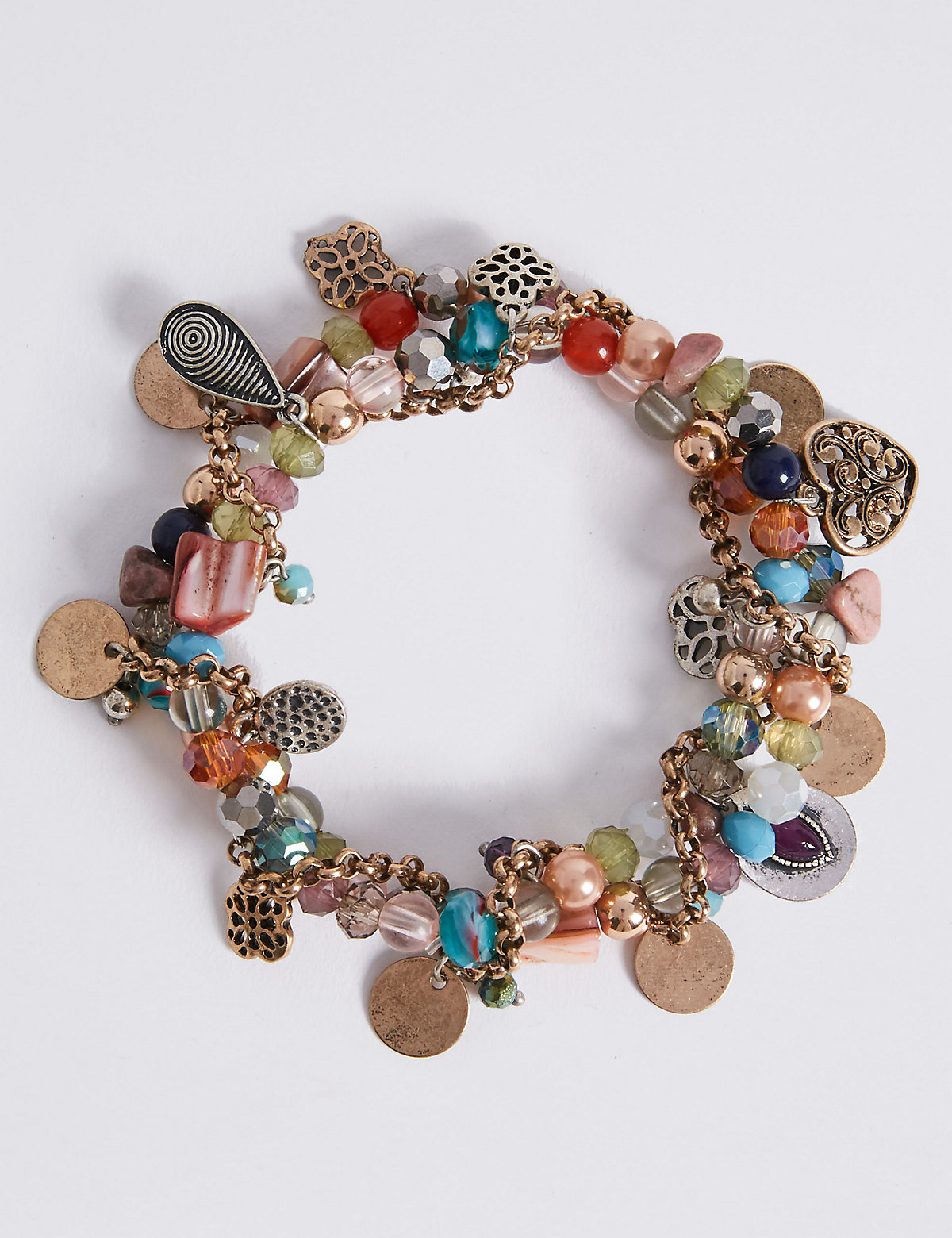 M&S Collection Charm Cluster Bracelet