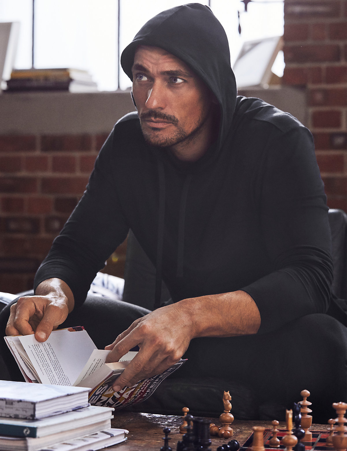 David Gandy for Autograph Supima Cotton Blend Stretch Hooded Top