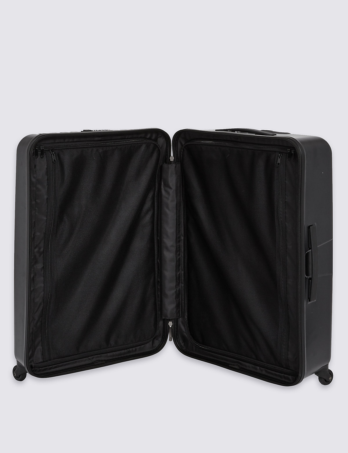 M&S Collection Large 4 Wheel Hard Suitcase with Security Zip