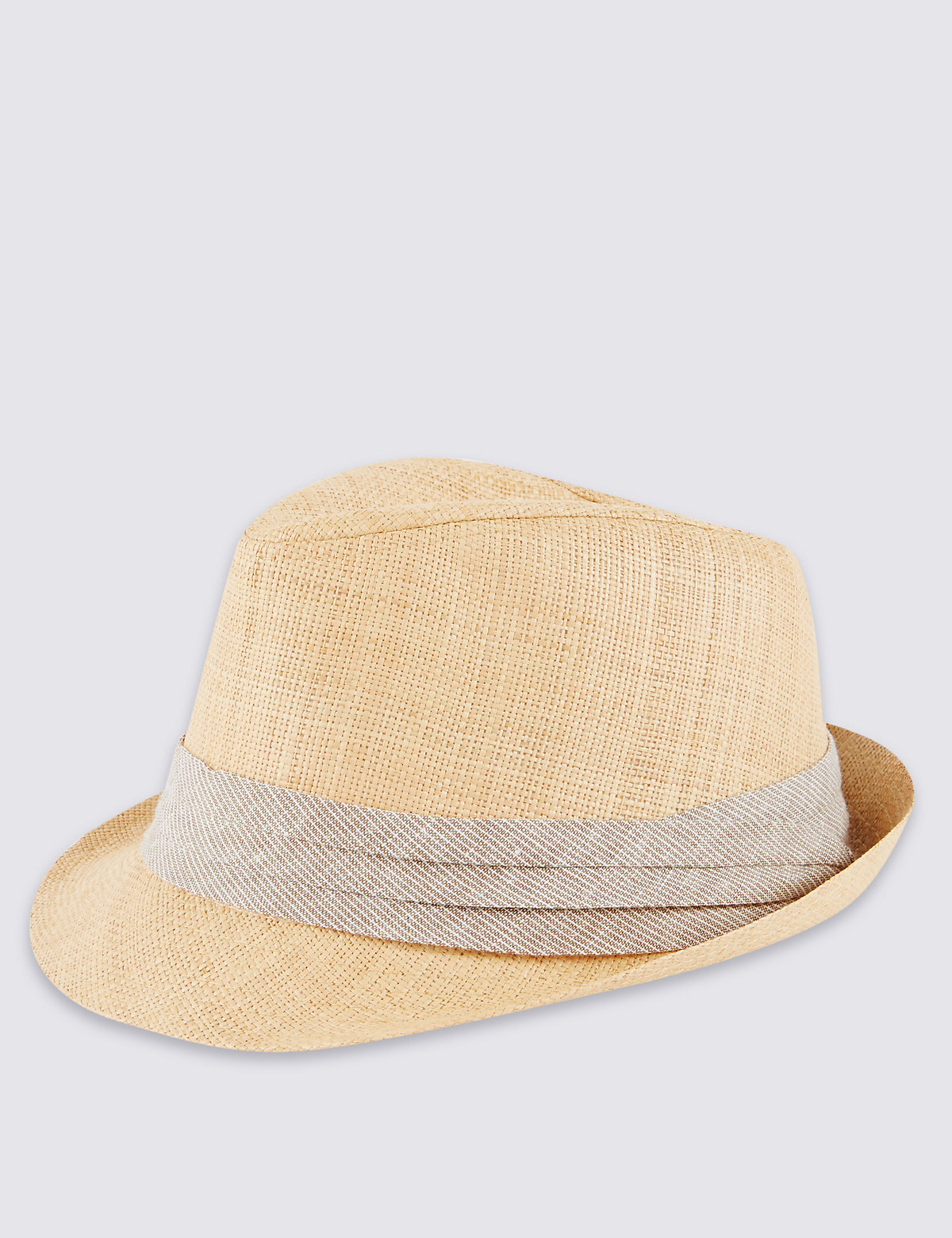 M&S Collection Cut & Sew Straw Trilby Hat