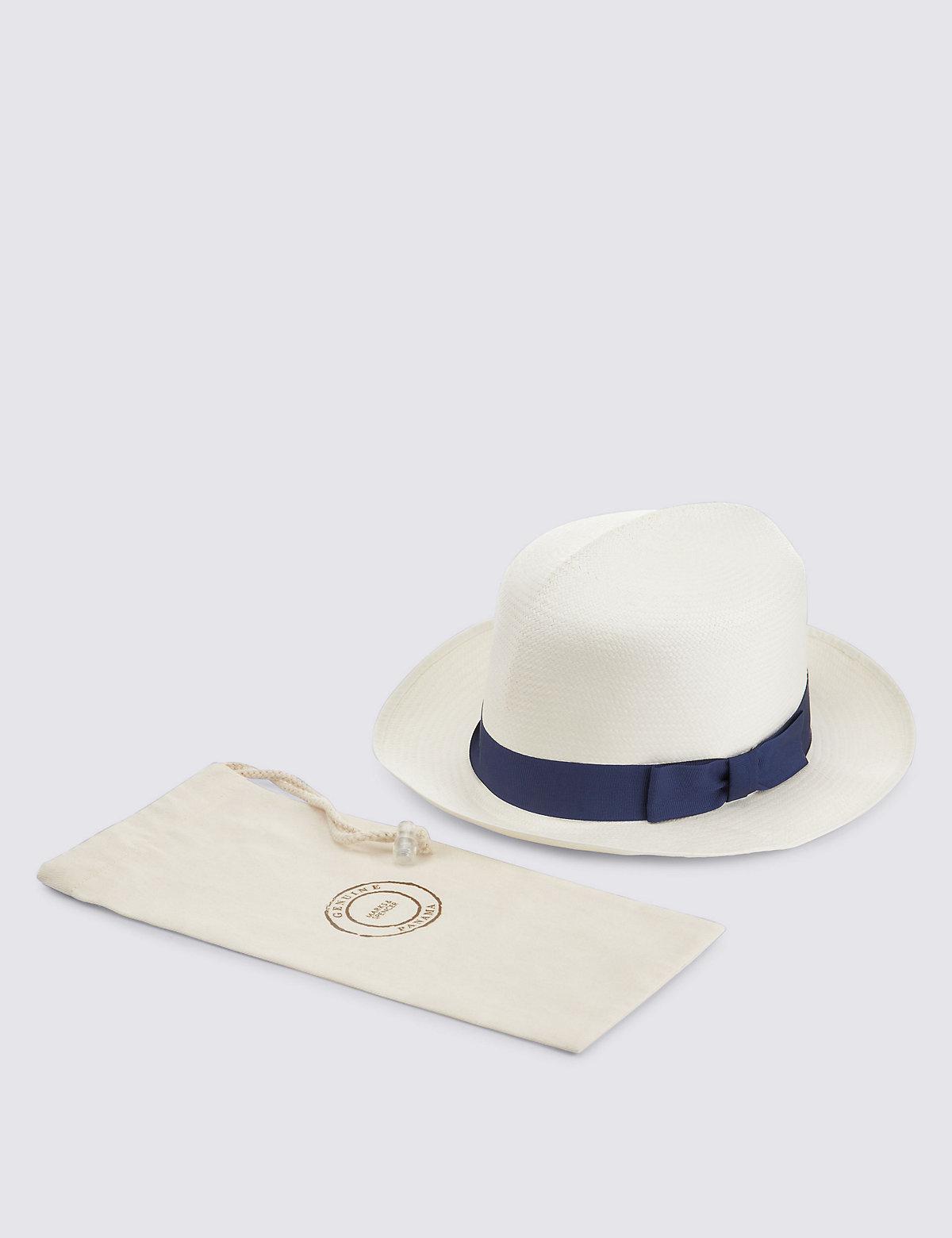 MS Collection Foldable Panama Hat £49.50 AT vintagedancer.com