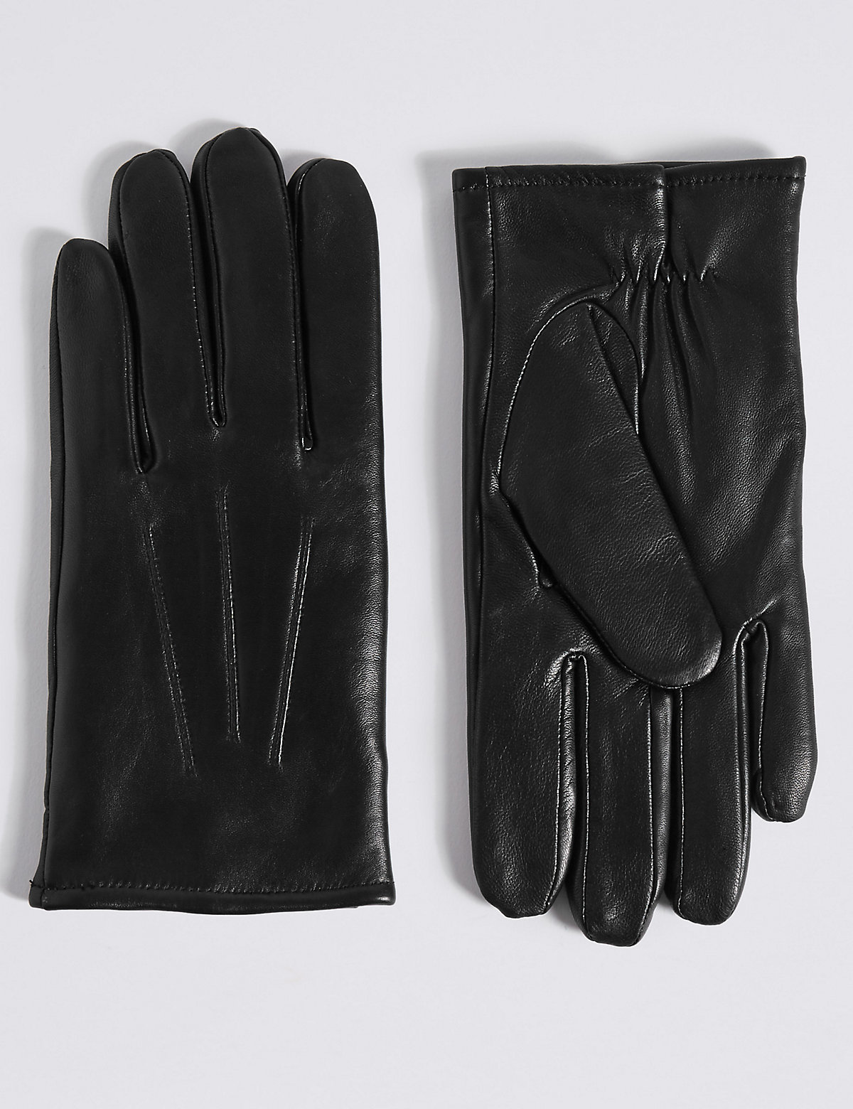 M&S Collection Touchscreen Leather Gloves with Thinsulate