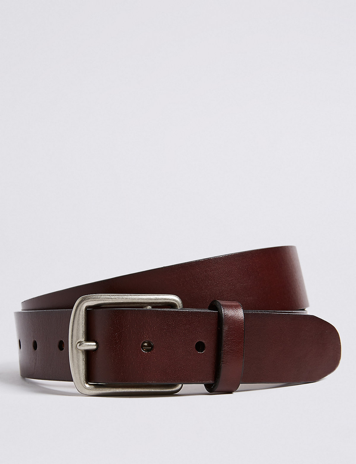 M&S Collection Saddle Edge Leather Belt