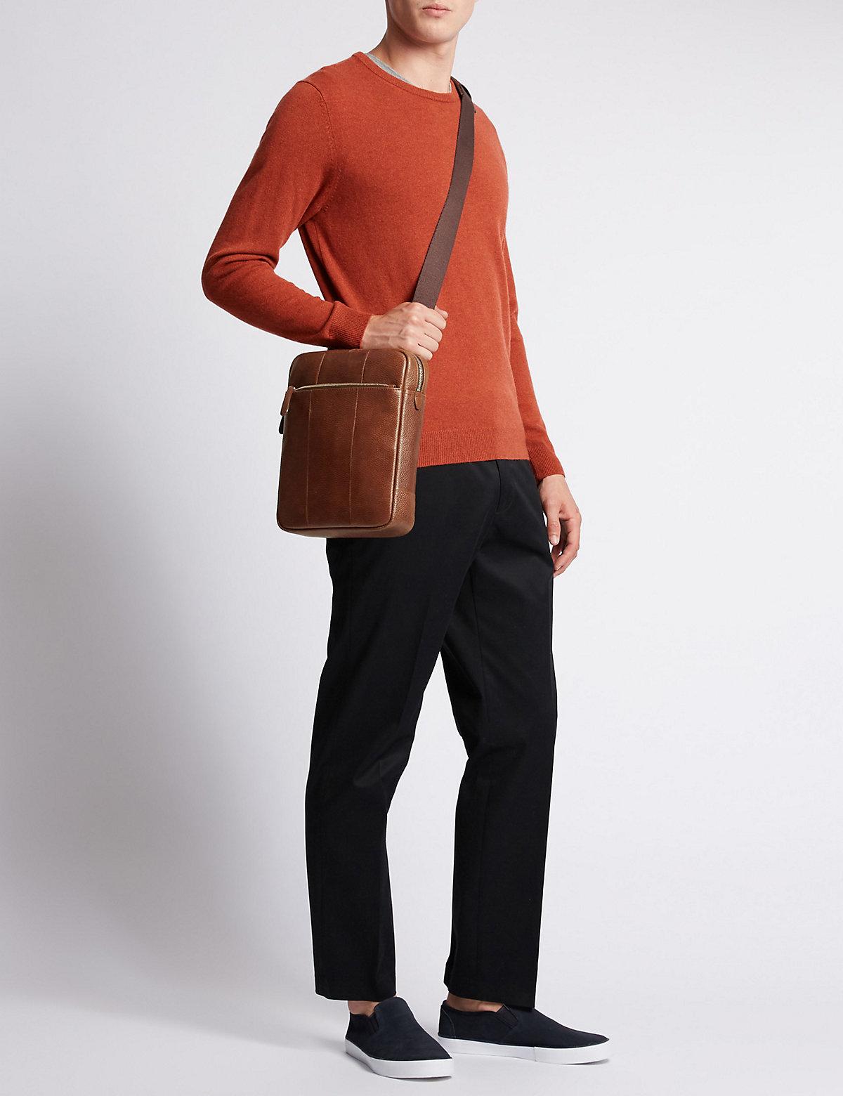 M&S Collection Pebble Grain Leather Crossbody Bag