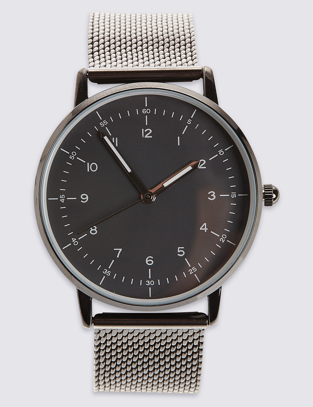 M&S Collection Gunmetal Milanese Watch
