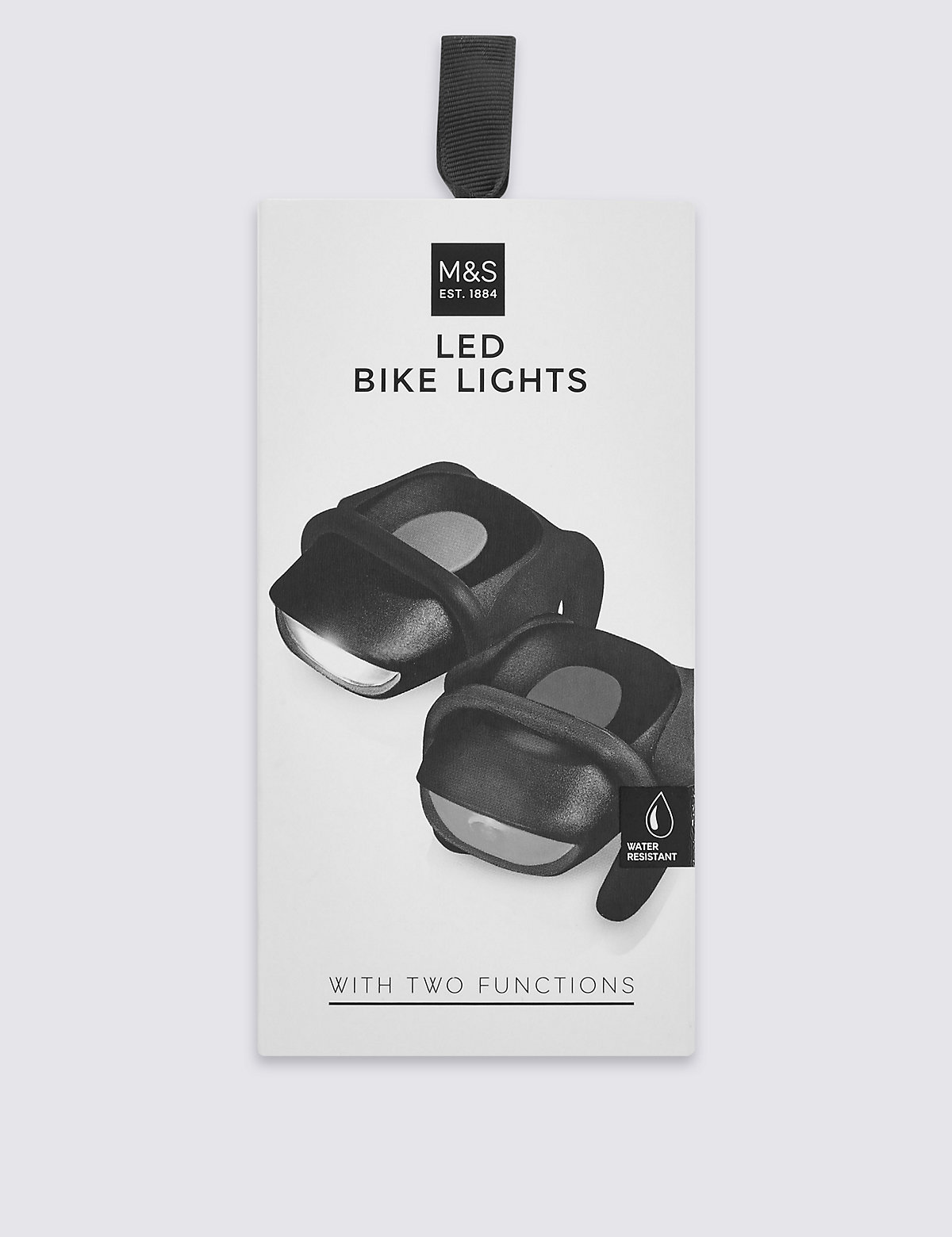 M&S Collection Water Resistant LED Bike Lights