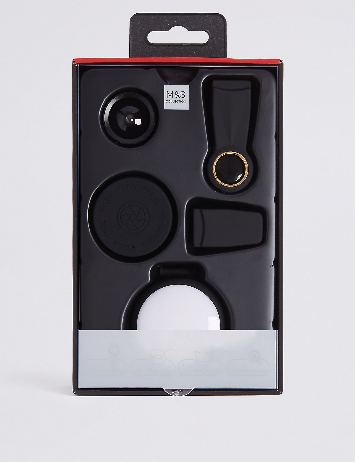M&S Collection Clip On x3 Lens and Light Kit