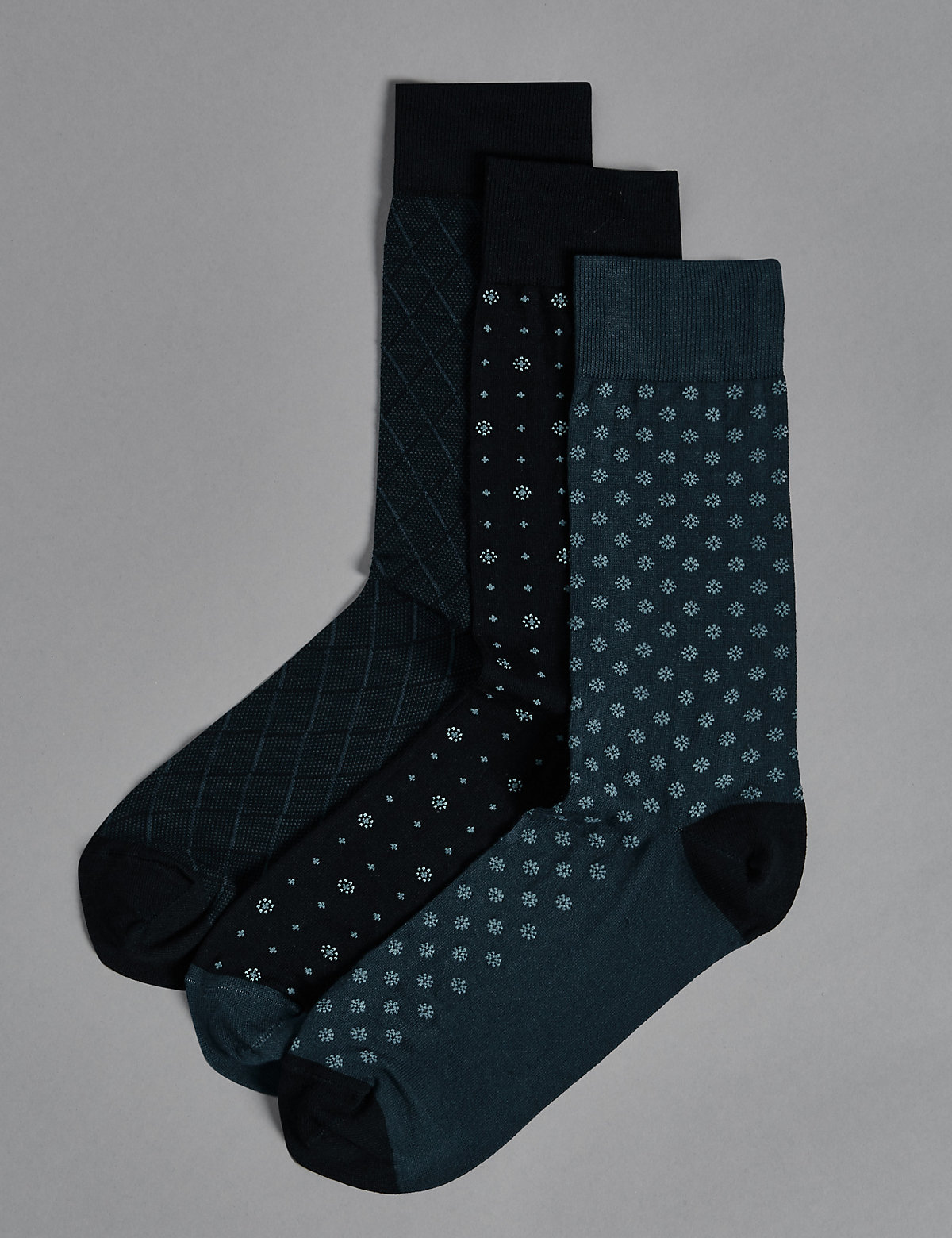 Autograph 3 Pairs of Modal Pima Blend Socks
