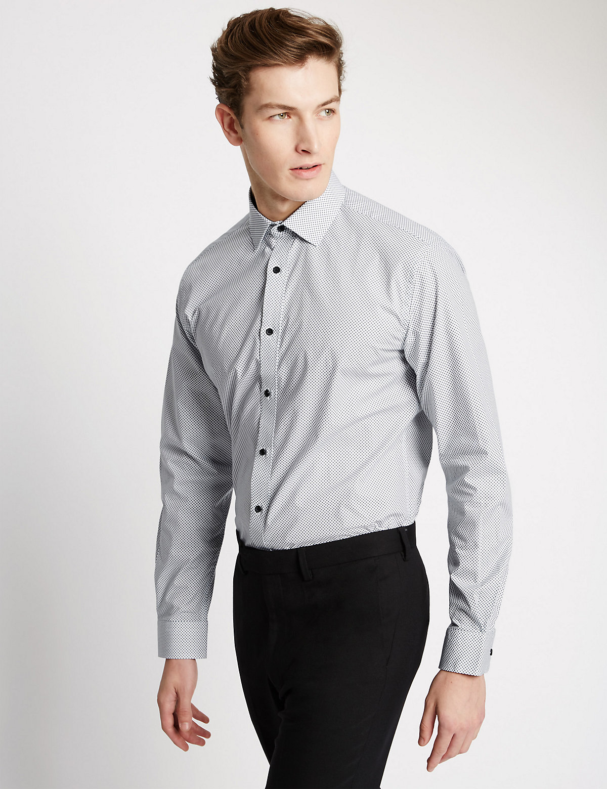 Image of Limited Edition Pure Cotton Tailored Fit Printed Shirt