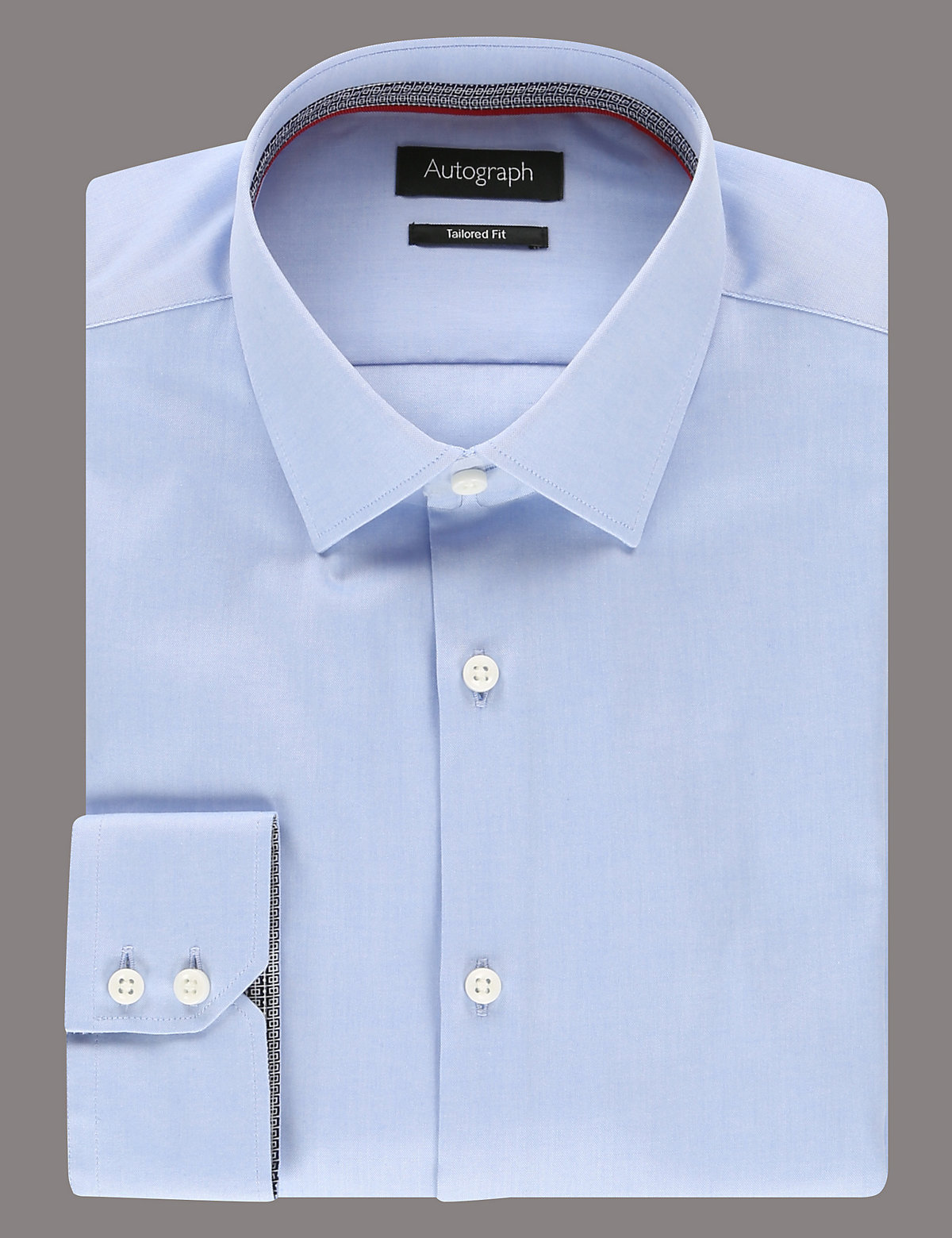 Image of Autograph 2in Longer Supima Cotton Pinpoint Shirt