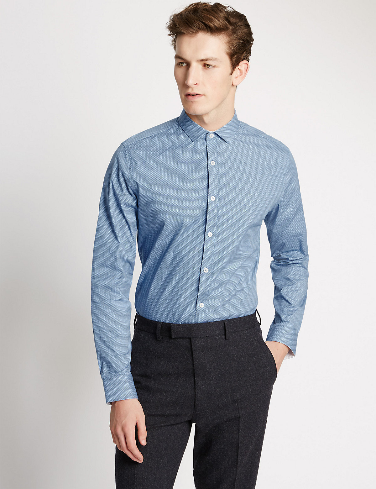 Image of Limited Edition Tailored Fit Easy to Iron Shirt