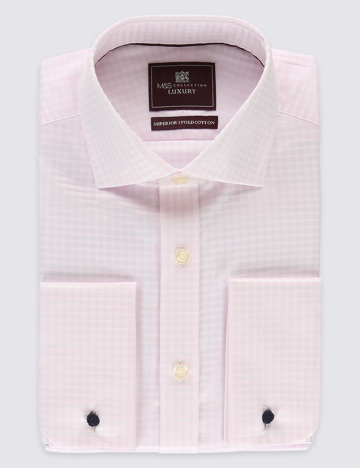 M&S Collection Luxury Pure Cotton Easy to Iron Regular Fit Shirt