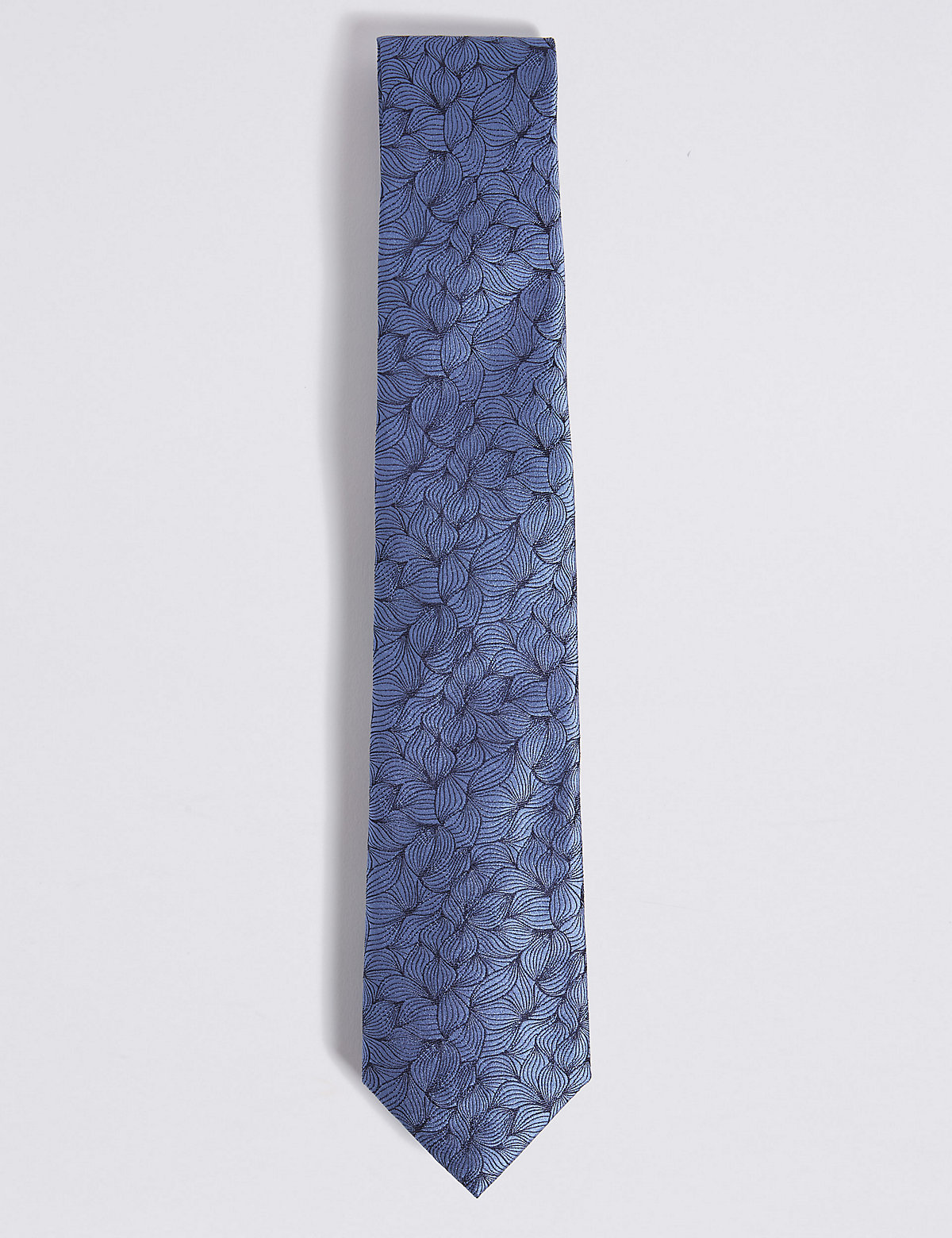 Image of Savile Row Inspired Pure Silk Leaf Motif Tie