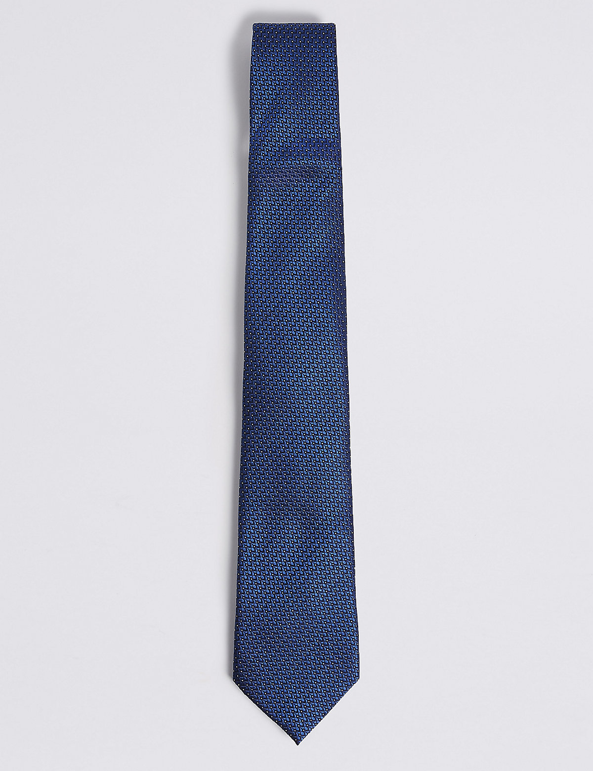 M&S Collection Luxury Pure Silk Micro Spotted Tie
