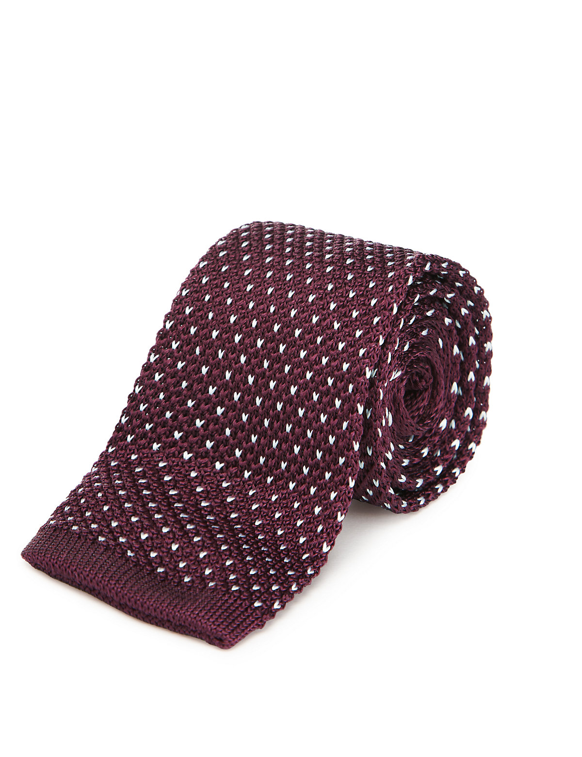 Autograph Pure Silk Knitted Tie $25.00 AT vintagedancer.com