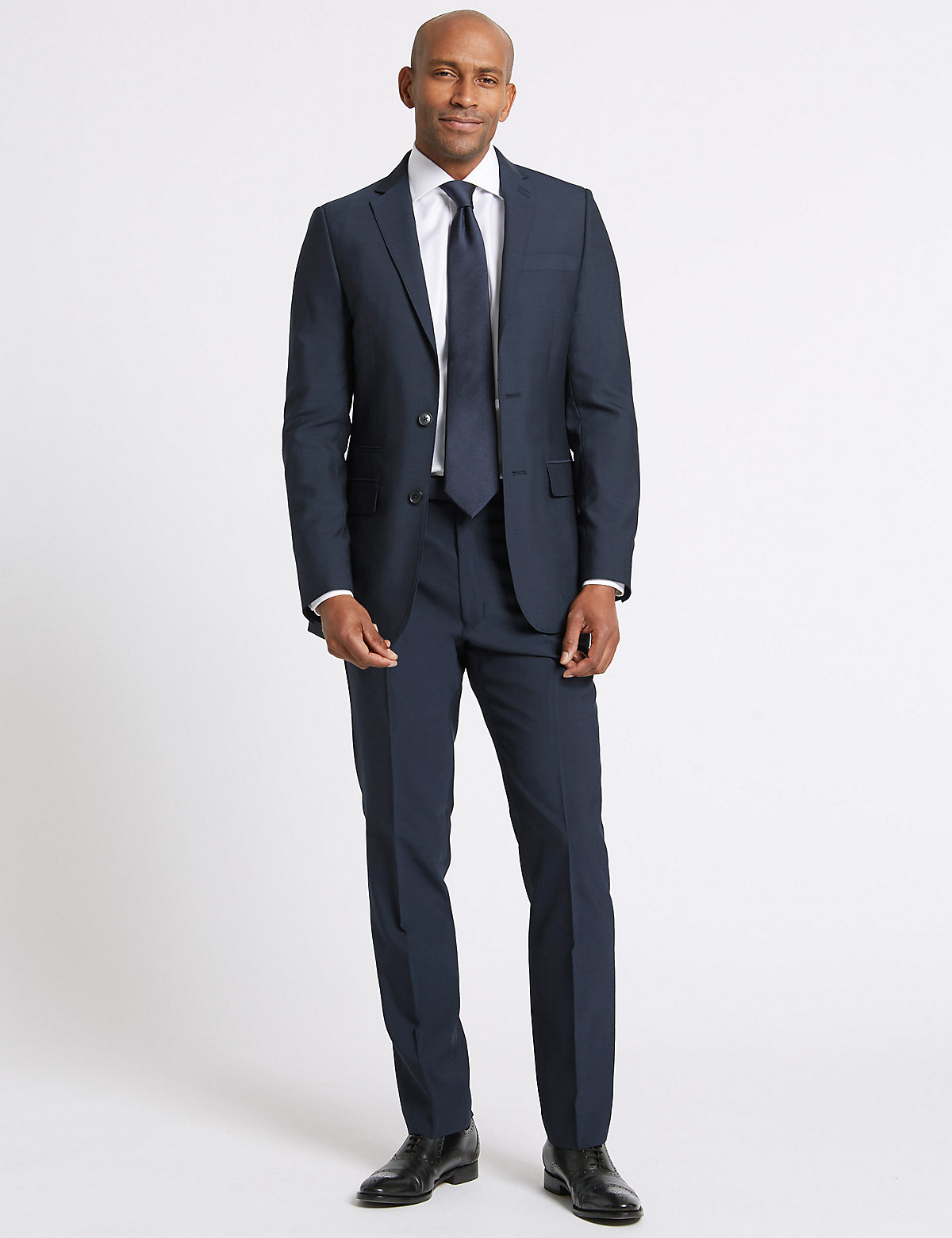 M&S Collection Big & Tall Indigo Tailored Fit Jacket