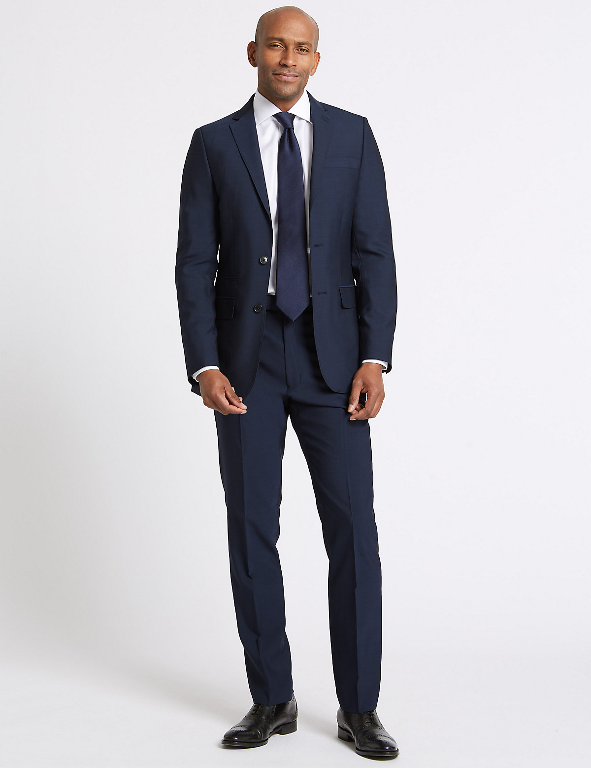 M&S Collection Indigo Tailored Fit Jacket