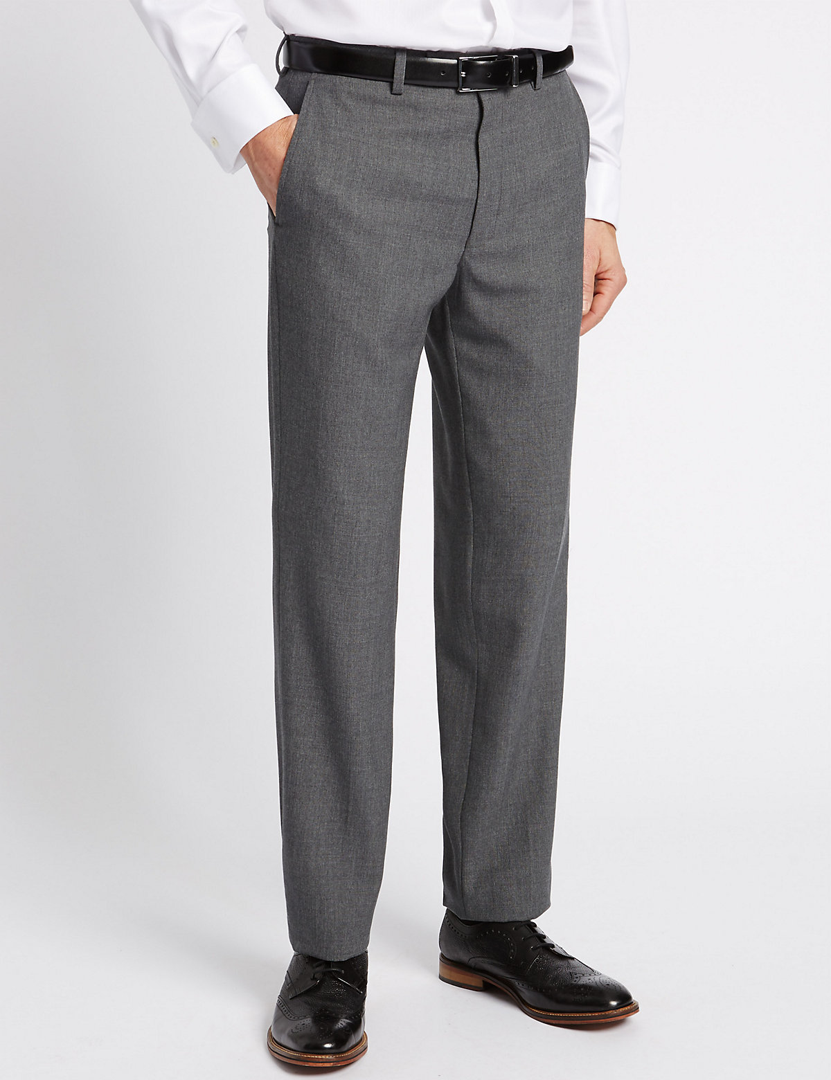 Savile Row Inspired Grey Tailored Fit Trousers