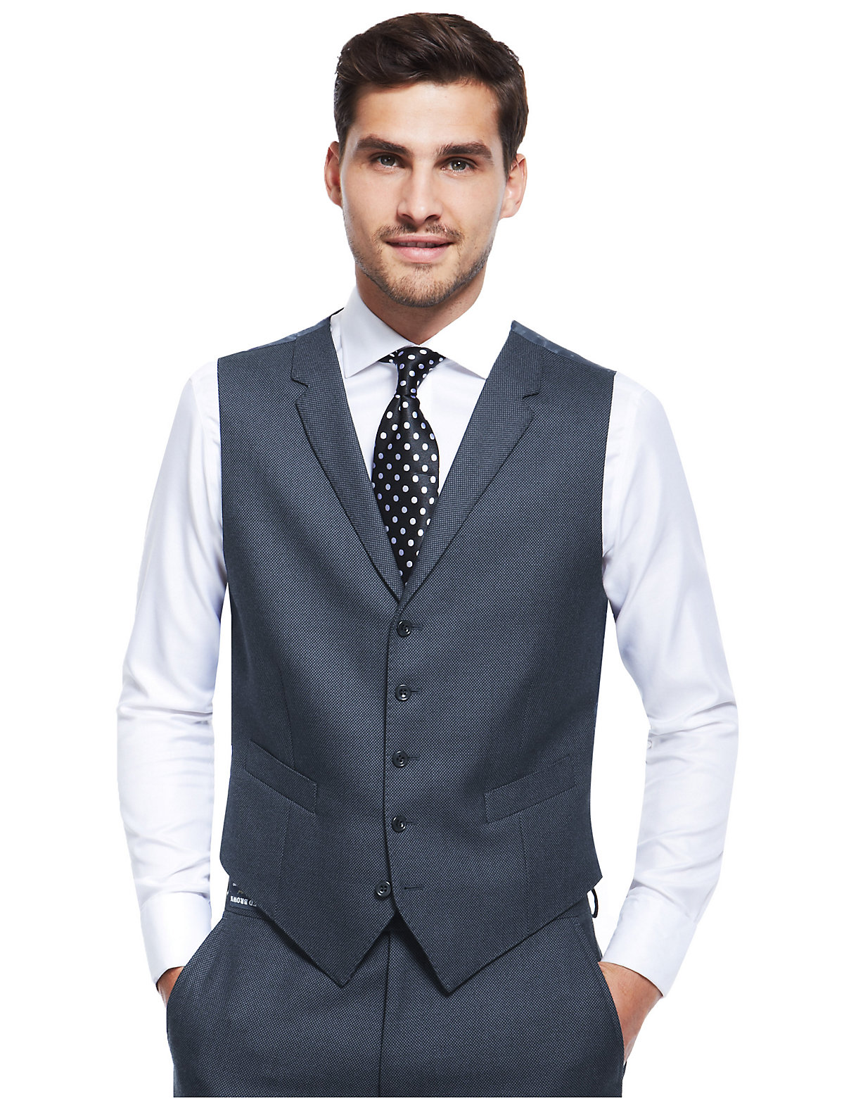 Luxury Sartorial Pure New Wool 5 Button Waistcoat $85.00 AT vintagedancer.com