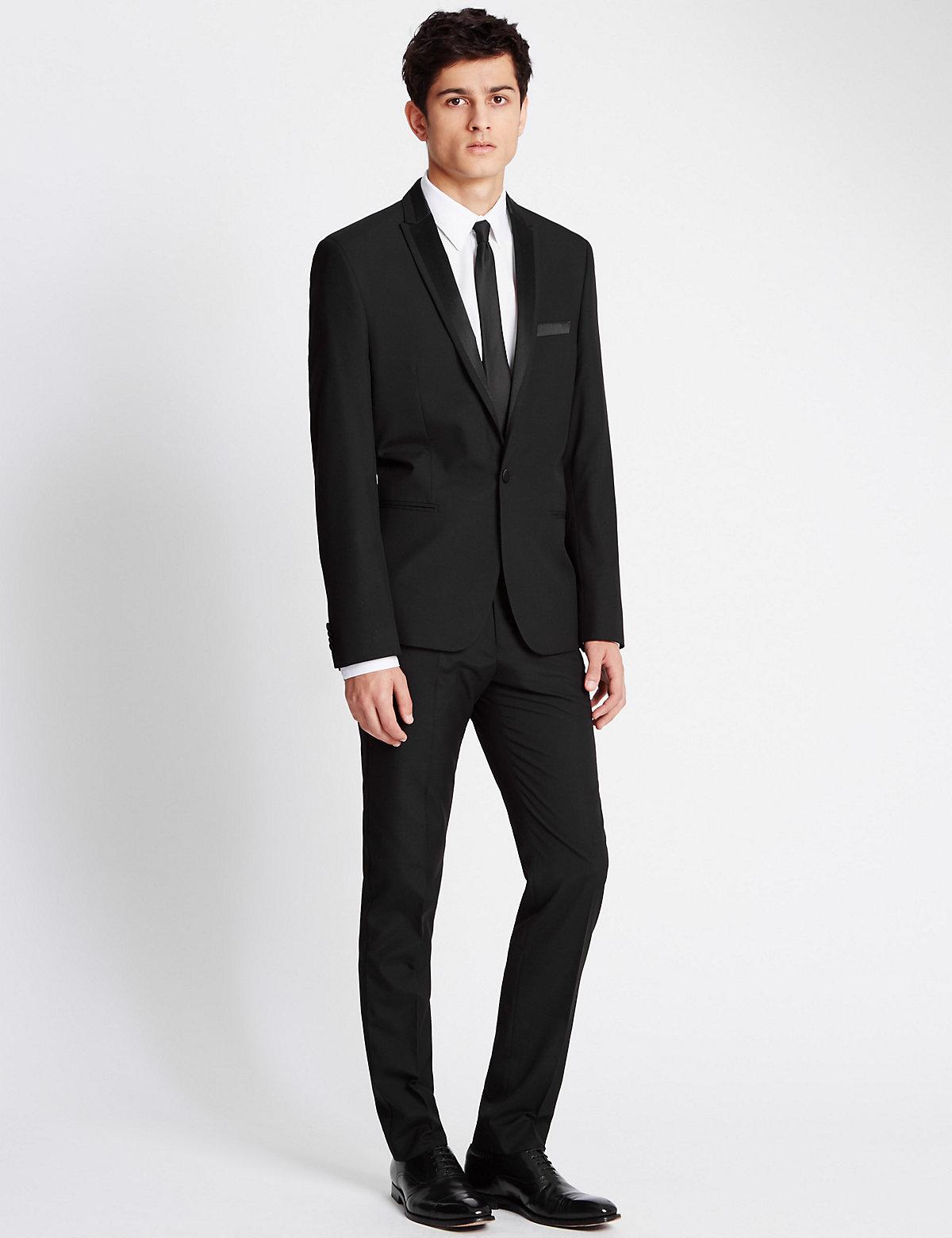 Limited Edition Super Slim Fit Peak Lapel 1 Button Eveningwear Jacket £55.00 AT vintagedancer.com