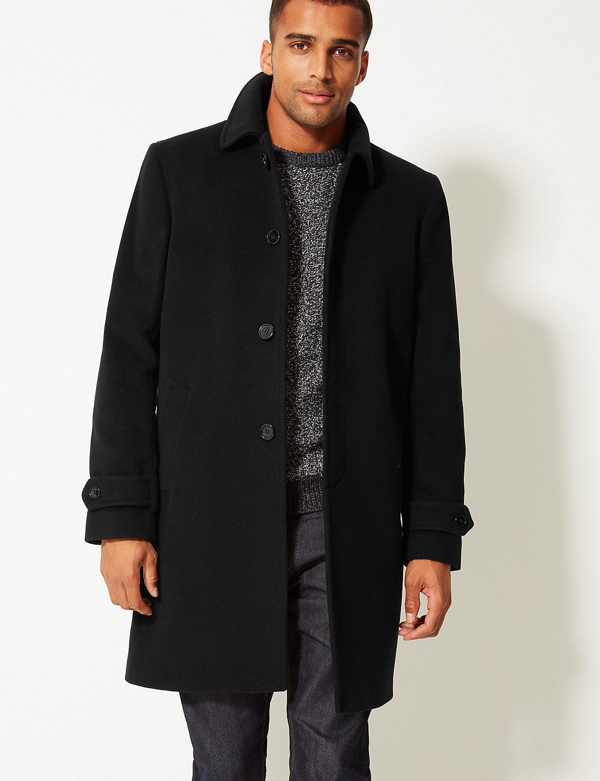 M&S Collection Collared Neck Coat
